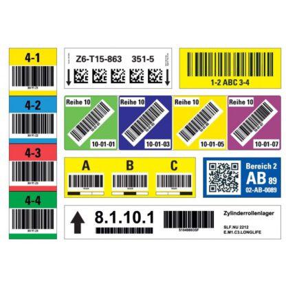 Lagerkennzeichen mit Barcode