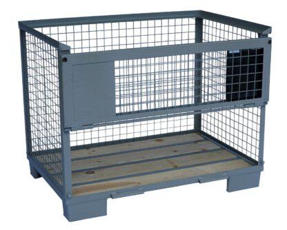stapelbare Gitterboxpaletten zum Öffnen