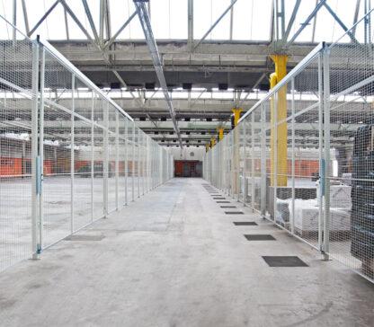 Schutzgittertrennwände für Blocklager und Bodenlager