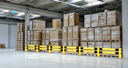 Rammschutz aus Kunststoff für Bodenlager