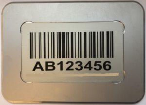 Blocklagerkennzeichnung mit Aluminium-Rahmen